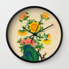 Minhwa: Peonies C Type  Wall Clock