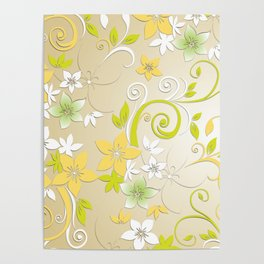 Flowers wall paper 2 Poster