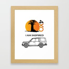 4xOverland Discovery Framed Art Print