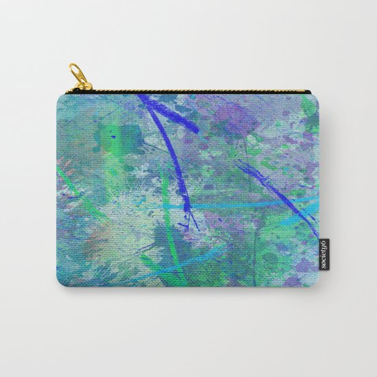 Aquatic Abstract - Blue and Green Carry-All Pouch