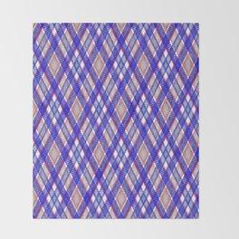 Blue, pink tartan plaid. Throw Blanket