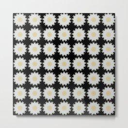 Daisy Abstract Repeat Dot Pattern  Metal Print