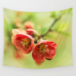 Chaenomeles flowers Wall Tapestry