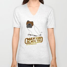 Frod0 the Sheltie: May the Furs Be With You (Baiana) Unisex V-Neck