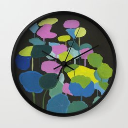 Motutara Nasturtium | abstract painting of nature Wall Clock