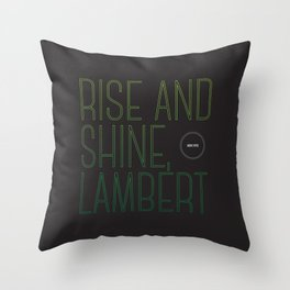 Opening Lines - Alien Throw Pillow