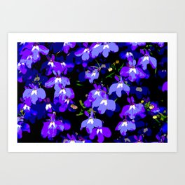 Deep Purple Passion Art Print