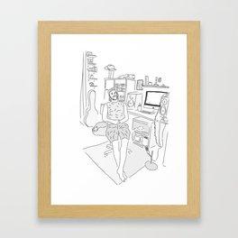 Michael at Home Framed Art Print