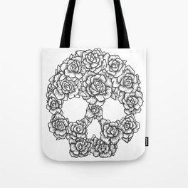 Skull of Roses Tote Bag