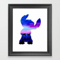 Stitch Double Exposure Framed Art Print