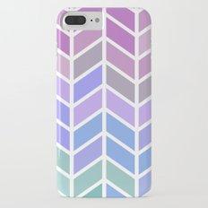blue & purple chevron iPhone 7 Plus Slim Case