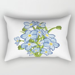 Spring Bouquet of Blue Myosotis Rectangular Pillow