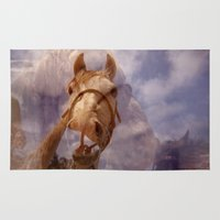 horses Area & Throw Rugs featuring Horses by Webe Love