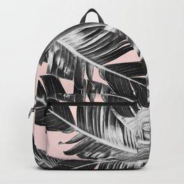 Tropical Blush Banana Leaves Dream #7 #decor #art #society6 Backpack