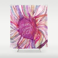 forever young Shower Curtains featuring FOREVER YOUNG by flaviasorr