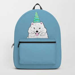 Samoyed with Party Hat Backpack
