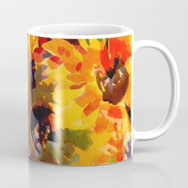 Golden Sunflower Garden Coffee Mug
