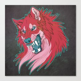 Ravewolf -Teal and Berry Canvas Print