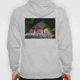Christmas Glimmering Shopping Mall Full Frontage Hoody