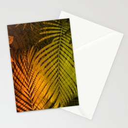 TROPICAL LEAVES GREEN MOCCA no2 Stationery Cards