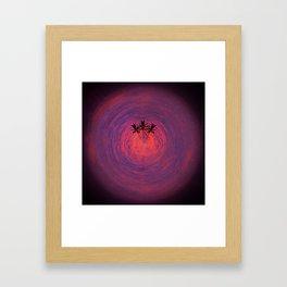 Cosmos Palms Trio Framed Art Print