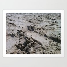 Galveston's Sand Art Print