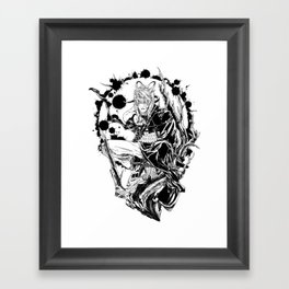 Cursed white Framed Art Print