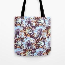 Arabesque Plant Jungle in Lavender, Orange and Purple Ethnic Pattern Illustration Tote Bag