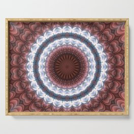 Trendy details of warm and cold in mandala Serving Tray