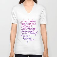 love quotes V-neck T-shirts featuring Love quotes by Ioana Avram