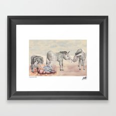 Michael's First Christmas, Nativity Framed Art Print
