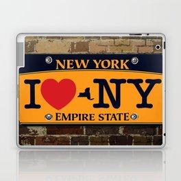I love NY New York Car Licence Plate Laptop & iPad Skin