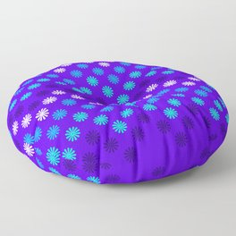 Digital Embroidery in Purple Floor Pillow