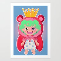 one piece Art Prints featuring Sugar from one piece by Dama Chan