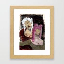 Dame/Newspaper Serie Framed Art Print