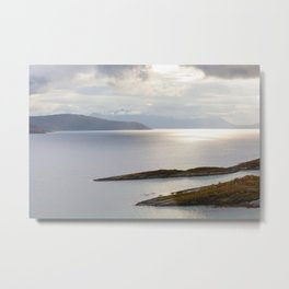 Light over the fjord Metal Print