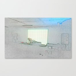 BLACK Electronic Underground #2 Canvas Print