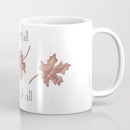 Falling Leaves in Watercolor Coffee Mug