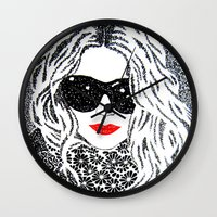 chic Wall Clocks featuring CHIC by The Curly Whirl Girly.