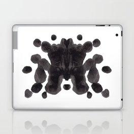 Black And White Inkblot Pattern Rorschach Test Laptop & iPad Skin