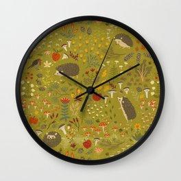 Hedgehog Meadow Wall Clock