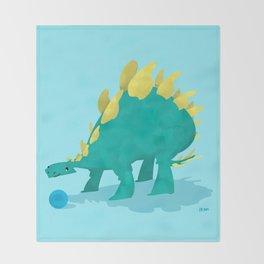 Stegosaurus and his Ball Throw Blanket