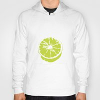 lime green Hoodies featuring Lime Citrus by Kimberly Jones