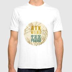 ATX Weird TEX Proud Mens Fitted Tee White MEDIUM