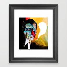 smoker2 Framed Art Print