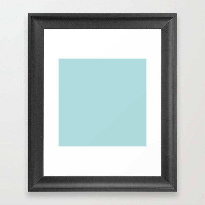 Robin's Egg Aqua Blue Gerahmter Kunstdruck