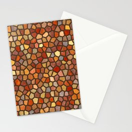 Fall Colors Mosaic Pattern - dark Stationery Cards