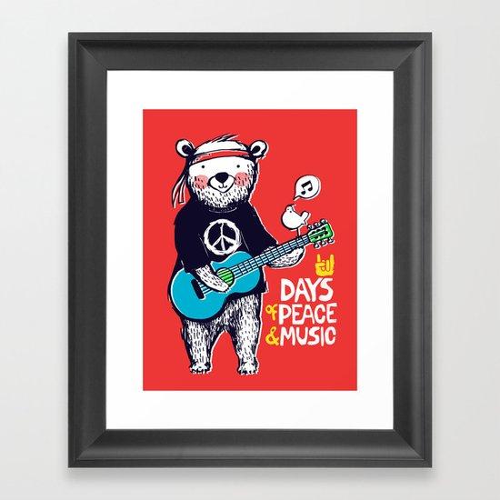 Days Of Peace & Music Framed Art Print