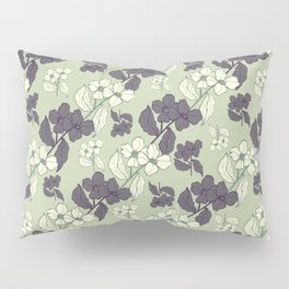 White and blue flowers Pillow Sham