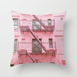 Pink Soho NYC Throw Pillow